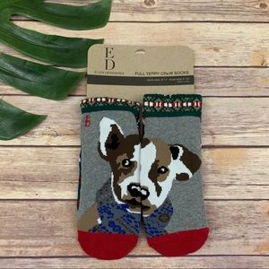 ED Ellen Degeneres women's dog face crew socks